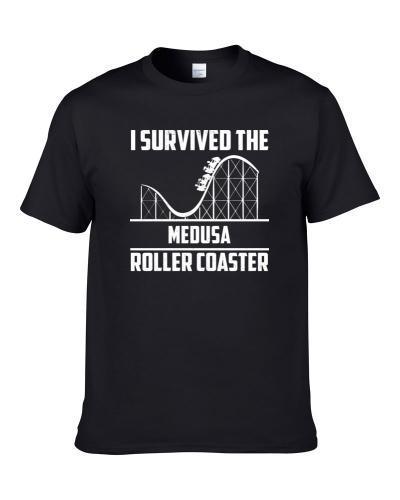 I Survived The Medusa Roller Coaster Fan tshirt for men
