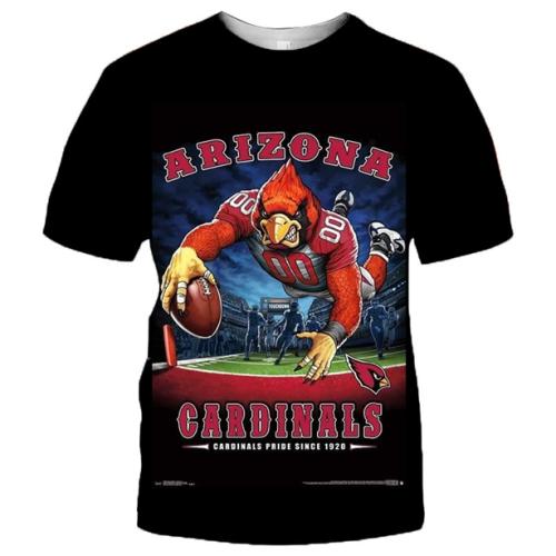 Arizona Cardinals Football Black T-shirt (#K68)