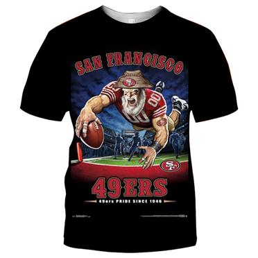 San Francisco 49ers Football Black T-shirt (#K71)