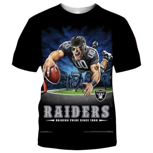 Las Vegas Raiders Football Black T-shirt (#K87)