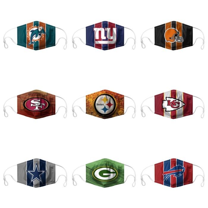 Football Dust-Proof Replaceable Filters Washable Face Masks