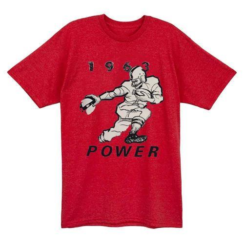 1963 Vintage Power Football T-shirt (#622)