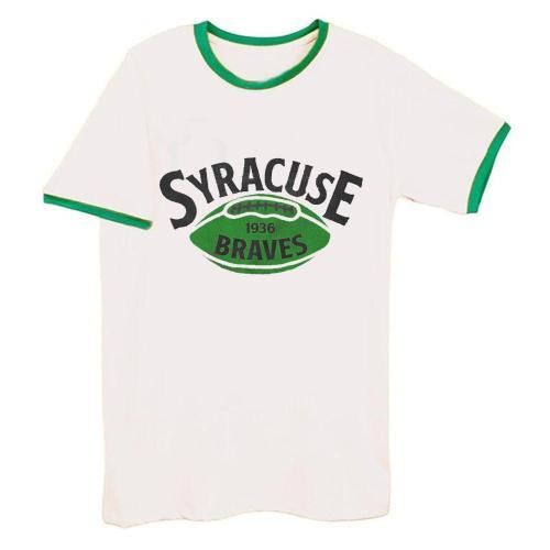 Syracuse Braves 1936 Football Tee(#D76)