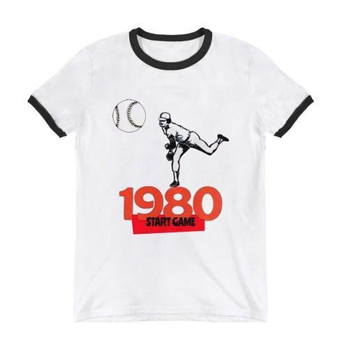 1980 Baseball Start Game Ringer T-Shirt(#630)