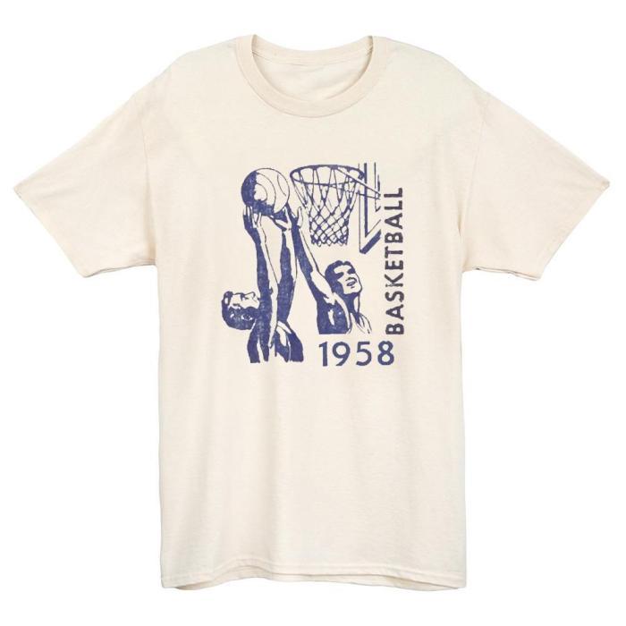 1958 Rebound Battle basketball T-shirt(#631)