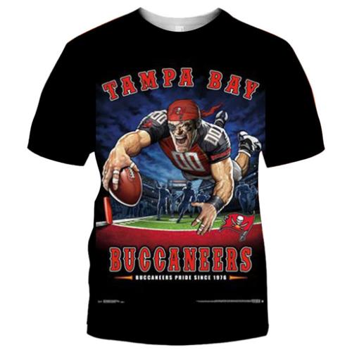 Tampa Bay Buccaneers Football Black T-shirt (#K66)