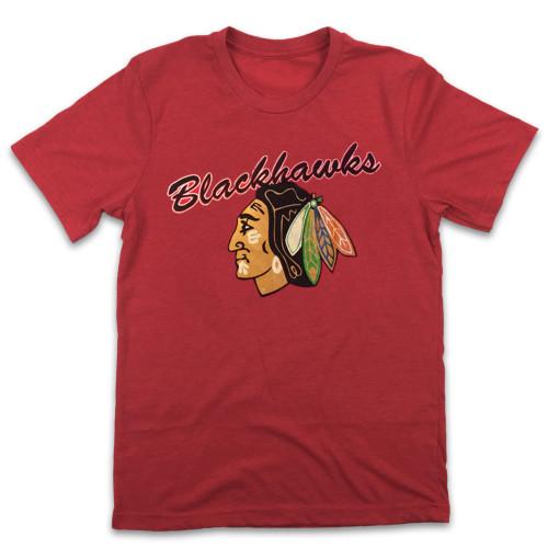 Hawks Chicago Hockey T-shirt (#L62)