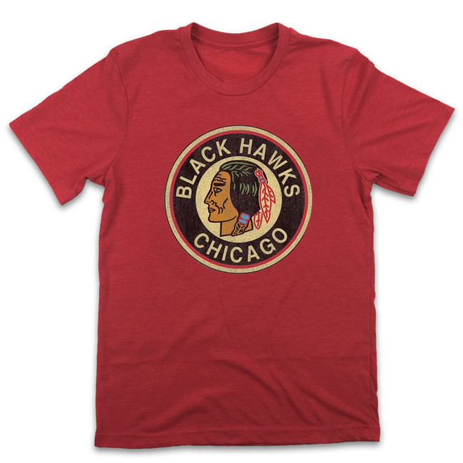 Hawks Chicago Hockey T-shirt (#L61)