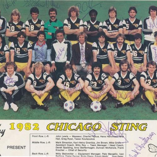 1975 Chicago Sting Soccer Tee-#C95