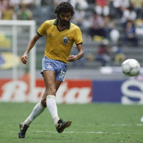 Retro Unofficial Soccer Brazil 1986 Soccer T-shirt(#C56)
