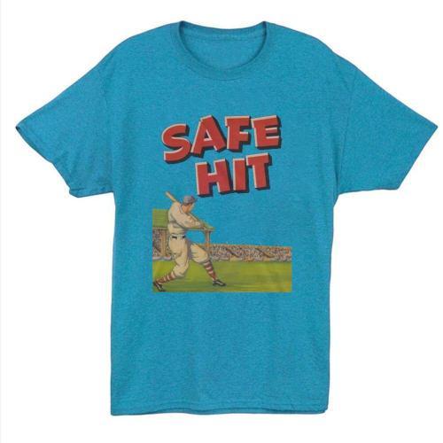 1940 Vintage Safe Hit Baseball T-shirt(#653)
