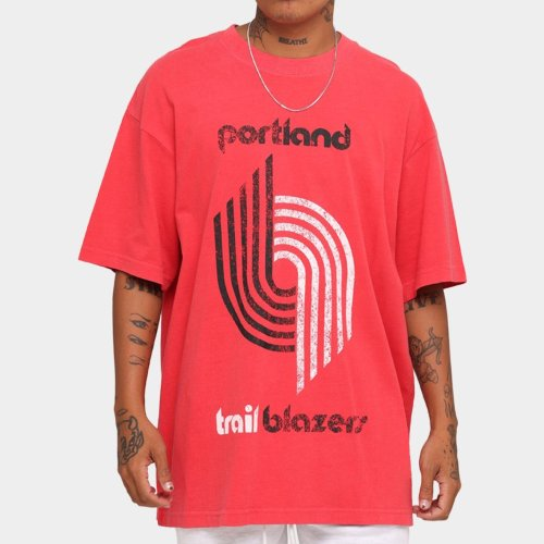 Portland Trail Blazers Unisex Oversized Logo Vintage T-Shirt (#U78)