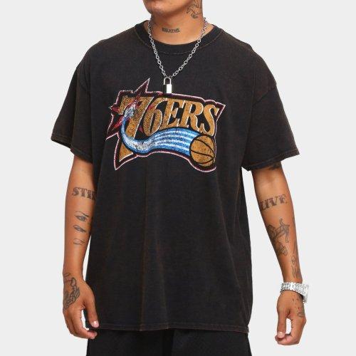 Philadelphia 76ers Unisex Oversized Logo Vintage T-Shirt (#U75)