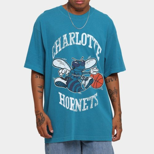 Charlotte Hornets Unisex Oversized Logo Vintage T-Shirt (#U68)