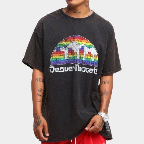 Denver Nuggets Unisex Oversized Logo Vintage T-Shirt (#U79)