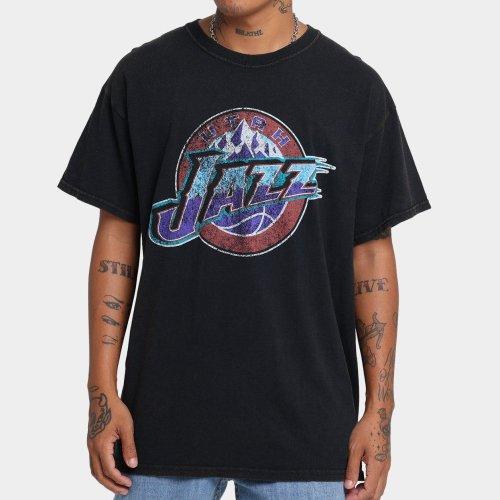 Utah Jazz Unisex Oversized Logo Vintage T-Shirt (#U73)