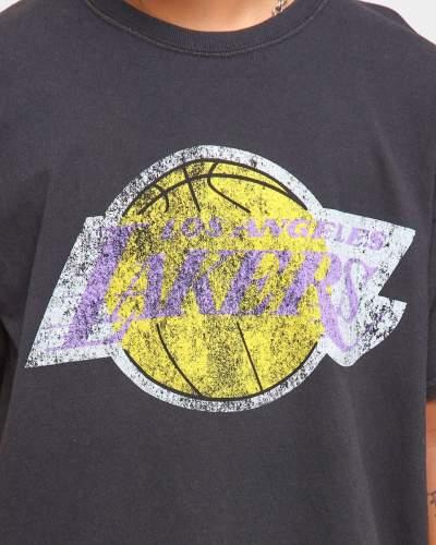 Los Angeles Lakers Unisex Oversized Logo Vintage T-Shirt (#U85)