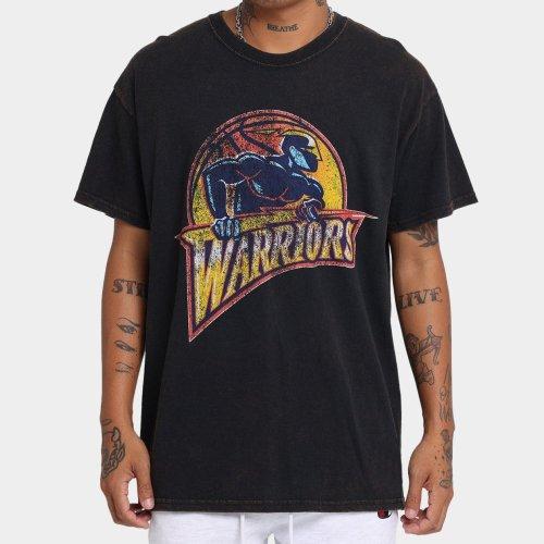 Golden State Warriors Unisex Oversized Logo Vintage T-Shirt (#U71)