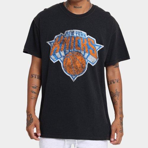 New York Knicks Unisex Oversized Logo Vintage T-Shirt (#U72)
