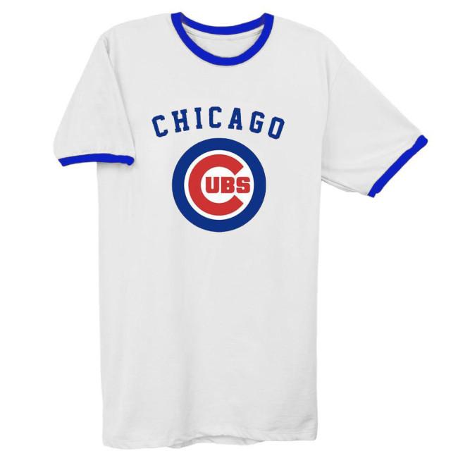 Chicago Cubs Vintage Baseball T-Shirt(#Y51)