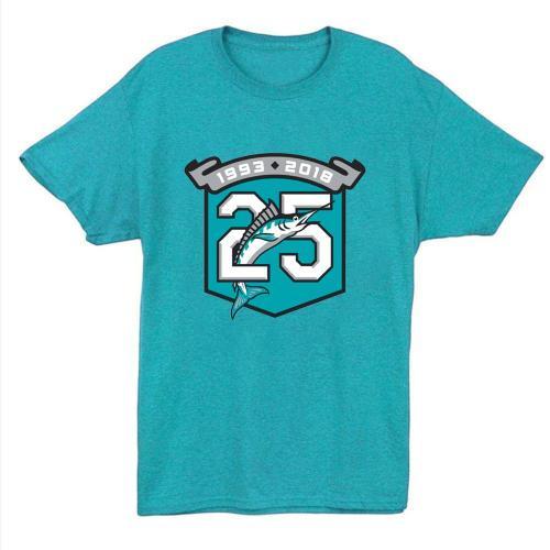Miami Marlins Vintage Baseball T-Shirt(#X93)