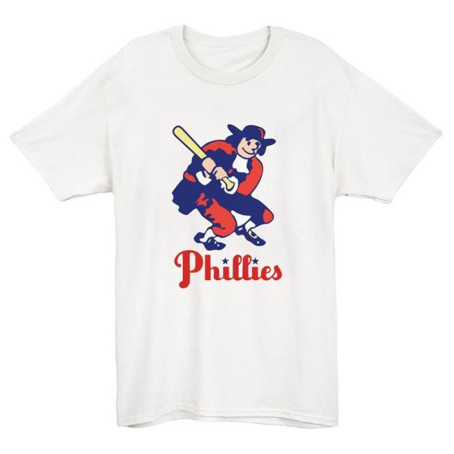Philadelphia Phillies Vintage Baseball T-Shirt(#Y01)