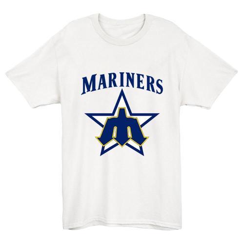 Seattle Mariners logo 1981 Vintage Baseball T-Shirt(#Y47)