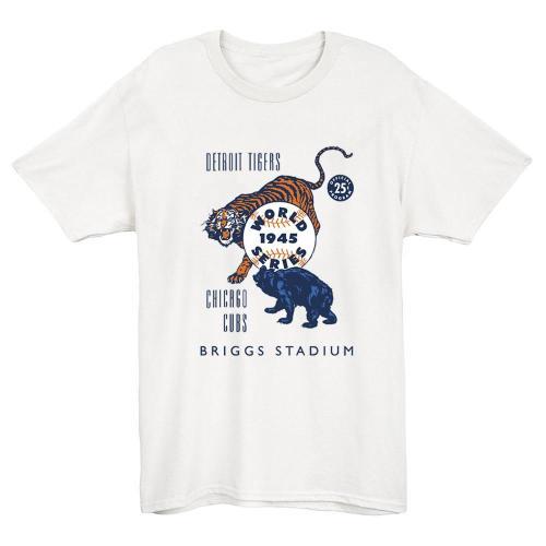 1945 World Series - Tigers vs. Cubs - Baseball T-shirt (#Y91)