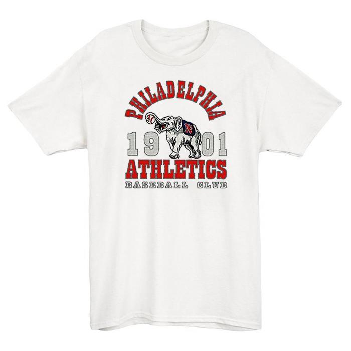 Philadelphia Athletics 1901 Vintage Baseball T-Shirt(#0A98)