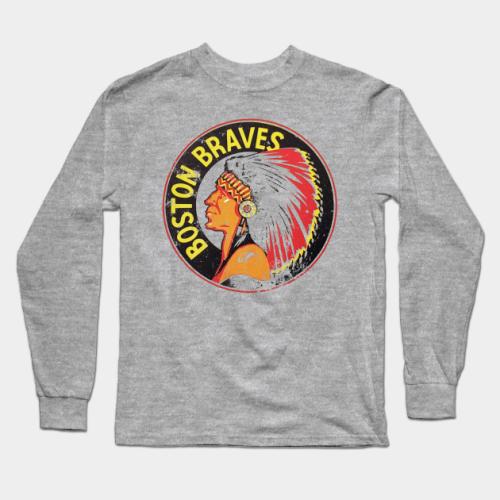 Boston Braves Baseball Long Sleeve T-Shirt (#Z16)