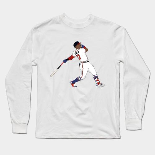 Acuna Jr Baseball Long Sleeve T-Shirt (#Z11)
