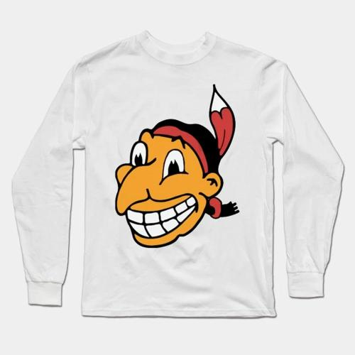 Chief Wahoo Long Sleeve T-Shirt(#0E92)