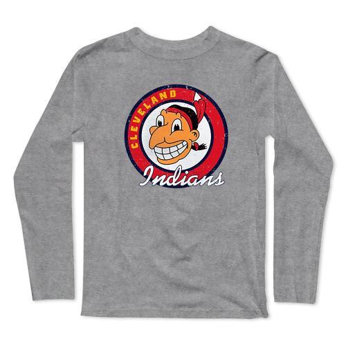 Cleveland Indians Baseball Long Sleeve T-Shirt(#0F47)