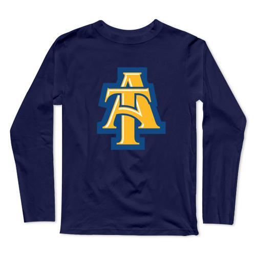 North Carolina At Aggies Baseball Long Sleeve T-Shirt(#0F20)