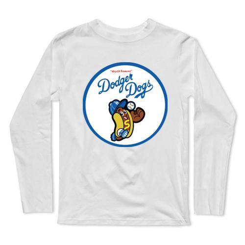 Dodger Dog Baseball Long Sleeve T-Shirt(#0F31)