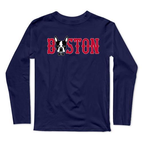 Boston Baseball Long Sleeve T-Shirt(#0F44)