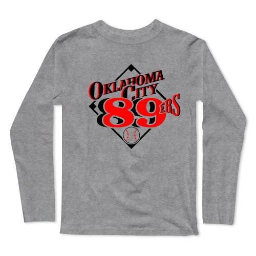 Oklahoma City 89ers Baseball Long Sleeve T-Shirt(#0F48)