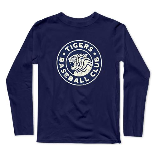 Tigers 1920's Club Baseball Long Sleeve T-Shirt(#0F23)