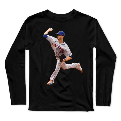 Jacob deGrom Baseball Long Sleeve T-Shirt(#0F43)