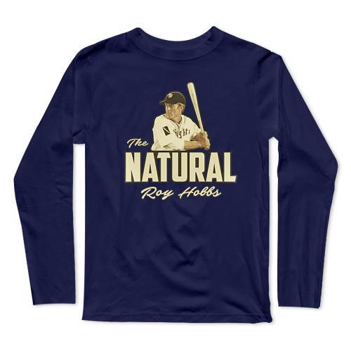 The Natural Roy Hobbs Baseball Long Sleeve T-Shirt(#0F50)