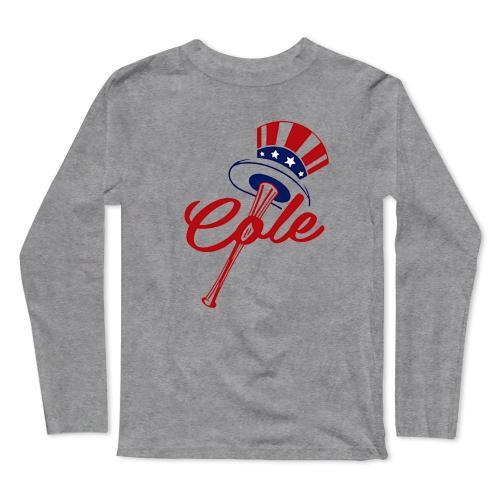 Gerrit Cole, New York Yankees Milwaukee Baseball Long Sleeve T-Shirt(#0F45)