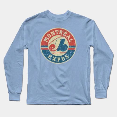 Expos 1969 Baseball Long Sleeve T-Shirt(#0E96)