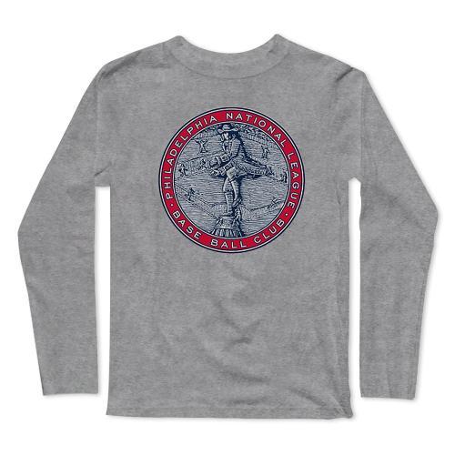 Phillies Baseball Long Sleeve T-Shirt(#0F46)