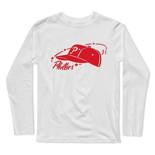 Retro Phillies Baseball Long Sleeve T-Shirt(#0F37)