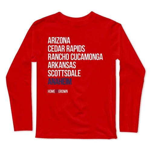 Angels Baseball Long Sleeve T-Shirt(#0F33)