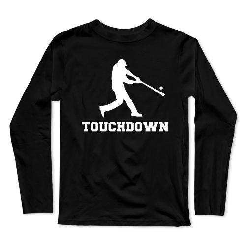 Touchdown Baseball Long Sleeve T-Shirt(#0F42)