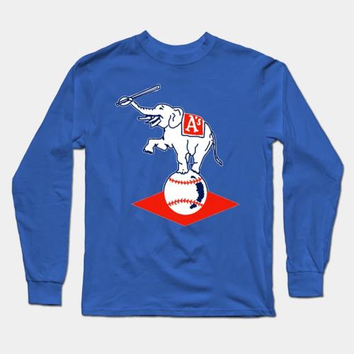 Philadelphia Athletics Baseball Long Sleeve T-Shirt(#0F64)