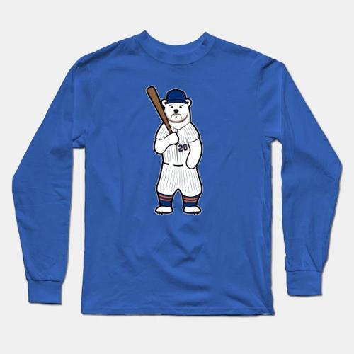 Polar Power Baseball Long Sleeve T-Shirt(#0F86)