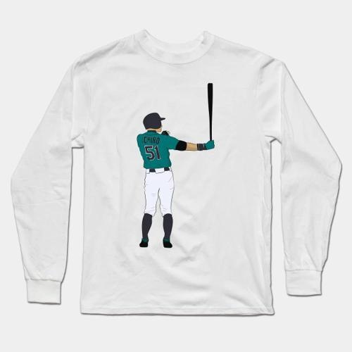 Ichiro Baseball Long Sleeve T-Shirt(#0F79)