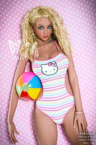 E-Cup 162cm Stephanie TPE Cheap WM Love Doll No334 Head European Girl